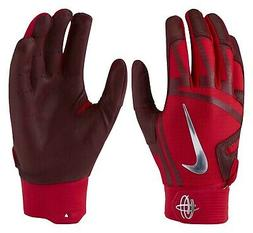$60 NIKE BASEBALL HUARACHE ELITE BATTING GLOVES GB0448-657 R