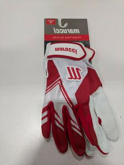 Marucci Adult F5 Batting Gloves SZ Med Red/White