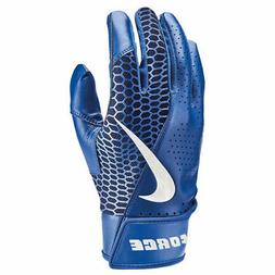 Nike Adult Men's Force Edge Baseball Batting Gloves Blue - N