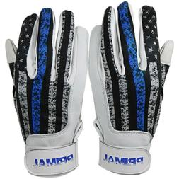 "PGX Gloves Adult ""USA Thin Blue Line"" Police Batting Gloves"