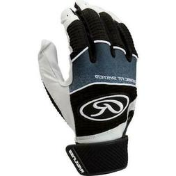 Rawlings Adult Workhorse Batting Gloves- Black/White or Whit