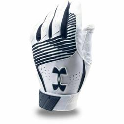 Under Armour Clean Up Batting Gloves NEW Youth L Navy/White