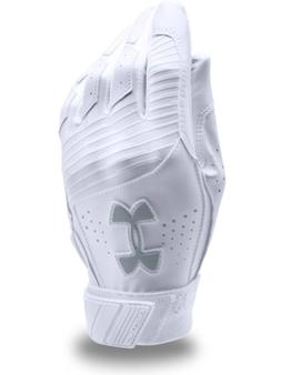 Under Armour Clean Up Batting Gloves YOUTH M, L, White, Base