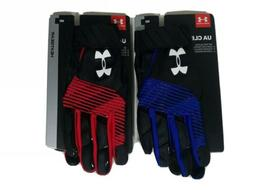 Under Armour Cleanup Batting Gloves Size M Men's Blue & Red