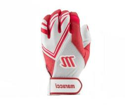 Marucci F5 Adult White/Red XX-Large Batting Gloves