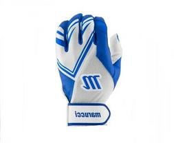 Marucci F5 Adult White/Royal Blue XX-Large Batting Gloves