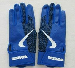 Nike Force Edge Batting Gloves Youth Large Royal Blue/White