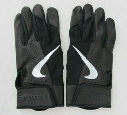 Nike Force Elite Batting Gloves Black/Silver Men's Large