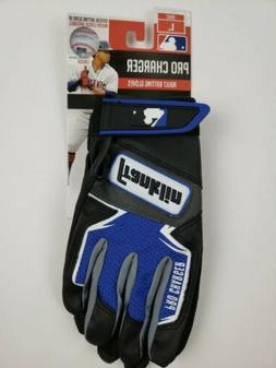 Franklin adult batting gloves PRO CHARGER sz XL blue and bla
