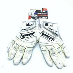 Franklin Adult Powerstrap Chrome Batting Gloves, Adult Small