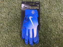 Nike Huarache Elite Baseball Batting Gloves Royal Blue White