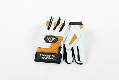 LUXURY BATTING GLOVES white your of inset
