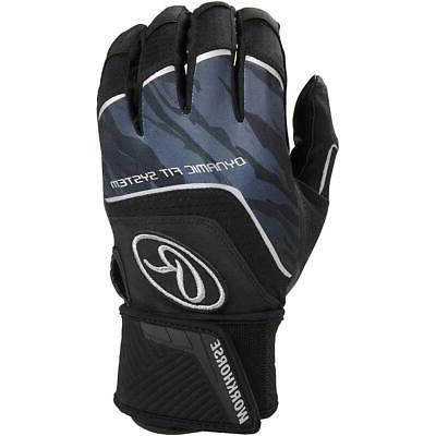 adult workhorse batting gloves with compression strap