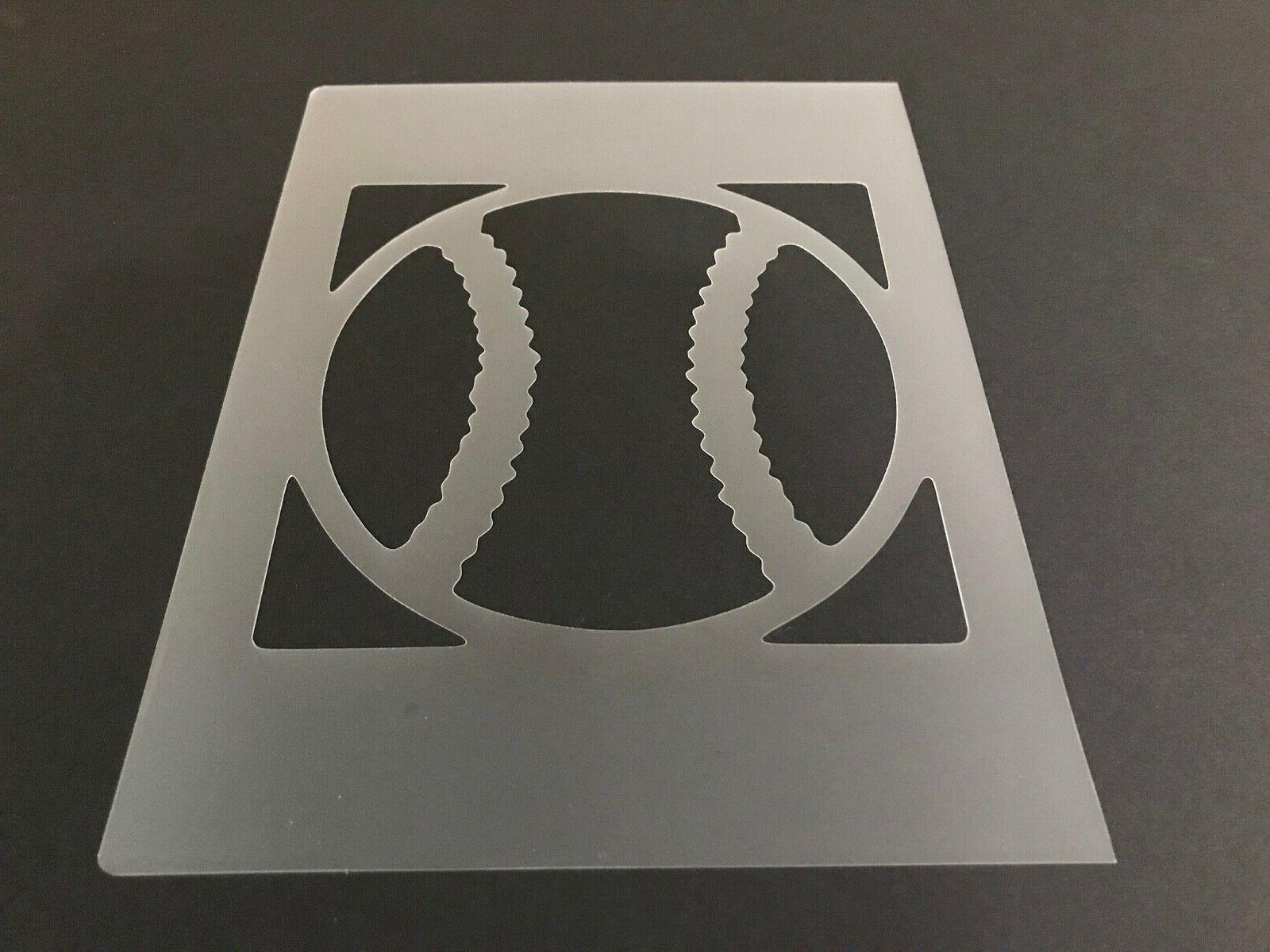 baseball 15 stencil 10mm or 7mm thick