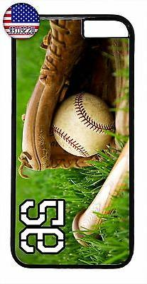 baseball bat glove personalized number case cover