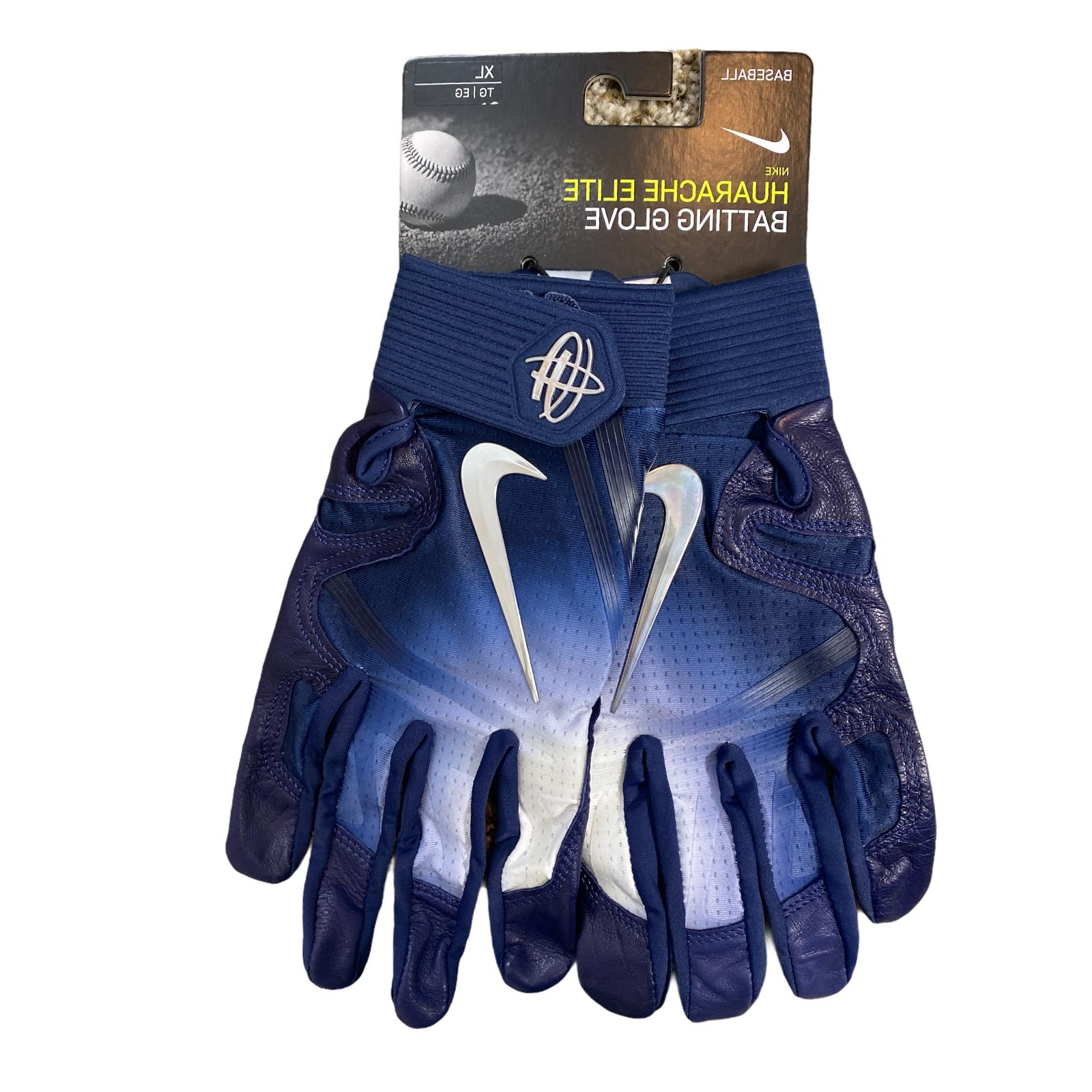 Nike Gloves Leather Palm Navy Blue XL