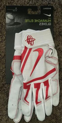 Nike HUARACHE ELITE Batting Gloves White/Red Size Small