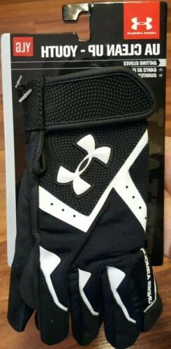 NEW Under Armour UA Clean-Up Batting Gloves • Youth Size Y