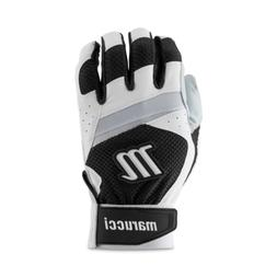 MBGCD-WBK-AS Marucci Code Adult Batting Gloves 1 Pair White