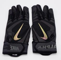 Nike Men Alpha Huarache Edge Batting Gloves Black/Black/Irid