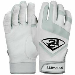 Mens Louisville Slugger Baseball Softball Batting Gloves Whi
