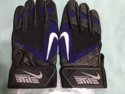 NEW NIKE DIAMOND ELITE VII BATTING GLOVES MEN'S XL BLACK &