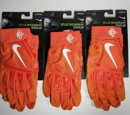 New Nike Huarache Elite Baseball Batting Gloves Orange PGB64