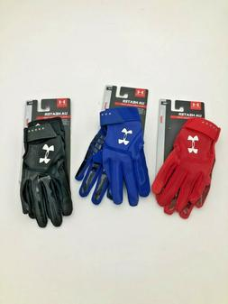 NEW Youth Under Armour UA Heater Batting Gloves PICK YOUR SI