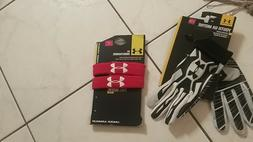 NWT Boys lot Under Armour batting gloves black size small +