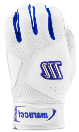 Marucci Quest 2.0 White/Royal Batting Gloves Size: Youth Med