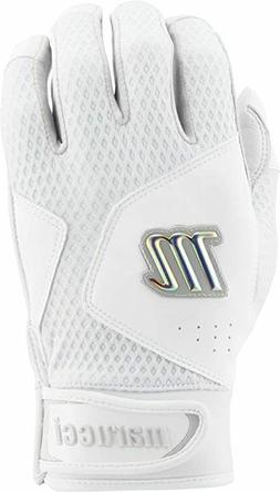 Marucci Quest 2.0 White/White Batting Gloves Size: Youth Lar