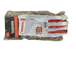 Marucci Quest Batting Gloves - Adult - Mens - White/Red
