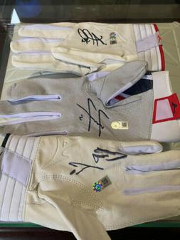 Signed Acuna, Albies,and Freeman MLB Certified Batting Glove