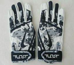 Nike Trout Edge Batting Gloves White/College Navy Adult Larg