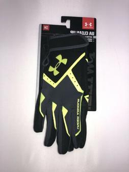 **Under Armour UA Clean Up Adult Small Lime Batting Gloves