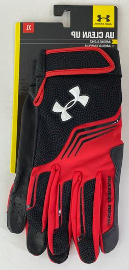 Under Armour UA Clean Up Batting Gloves XL Black/Red 1243731