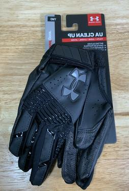 Under Armour UA Clean Up Youth Baseball Batting Gloves SZ Me