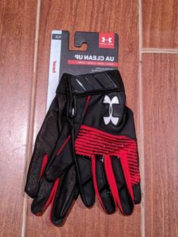 Under Armour UA Clean Up Youth Large Batting Gloves Black an