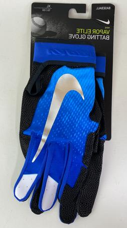 Nike Vapor Elite Baseball Batting Gloves Size XL Blue/Black